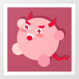 The cutest evil demon ever! Art Print