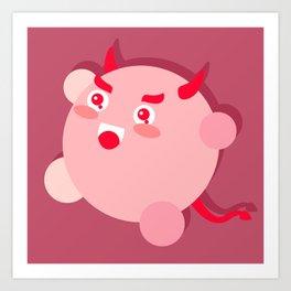 The cutest evil demon ever! Art Print