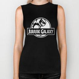 Jurassic Galaxy - White Biker Tank