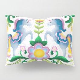 The Royal Society Of Cute Unicorns Light Background Pillow Sham