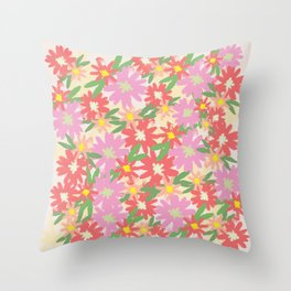 floral party Throw Pillow
