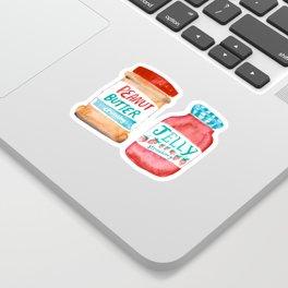 Peanut Butter & Jelly Watercolor Sticker