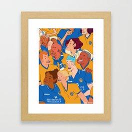 Football Fans Framed Art Print