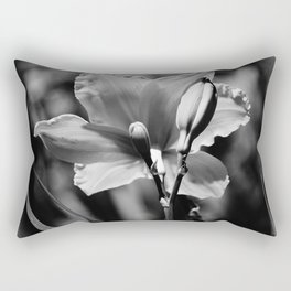 Black-and-White Daylily Rectangular Pillow