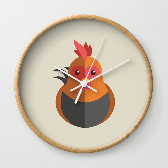 Jago Roster Kids Wall Clock By Domingues Society6