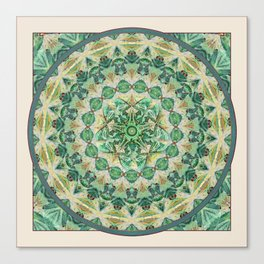 Luna Moth Meditation Mandala Canvas Print