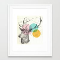 stitch Framed Art Prints featuring stitch doe by Vin Zzep