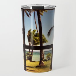 Tropical Fiji Beach Scene Travel Mug