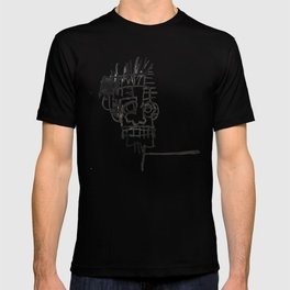 A vectorised and reworked Basquiat notebook sketch T-shirt