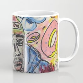 tyler,rapper,colourful,colorful,poster,wall art,fan art,music,hiphop,rap,legend,shirt,print Coffee Mug