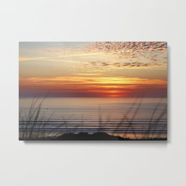 Sunset Surf Gwithian Bay Metal Print