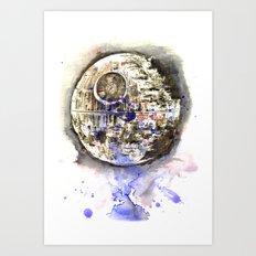 Star Wars Art Painting The Death Star Art Print