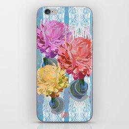 Trio of Peonies - Summer Pastels iPhone Skin
