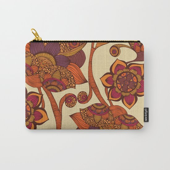 Boho Flowers Carry-All Pouch