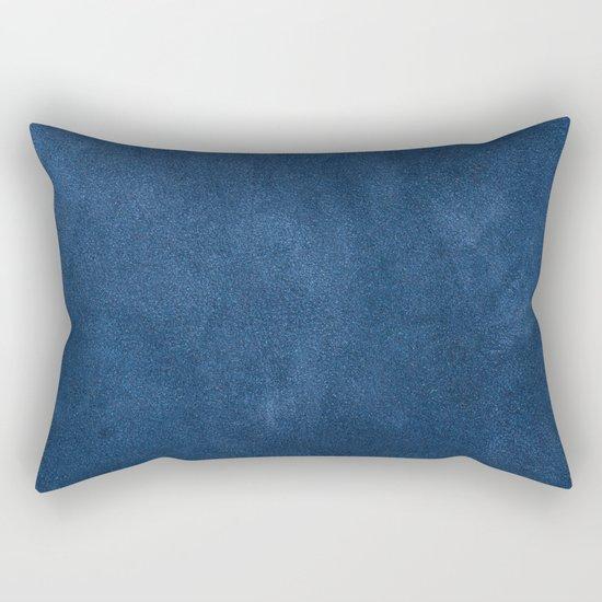 Blue leather texture Rectangular Pillow