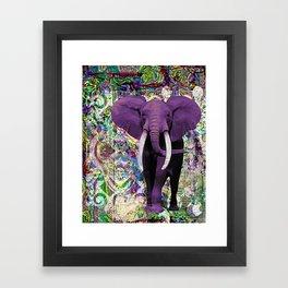 Purple Elephant Framed Art Print