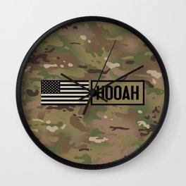 Hooah (Camo) Wall Clock