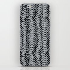 Hand Knit Grey And Black iPhone & iPod Skin