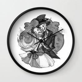 Inktober Skeletons Wall Clock
