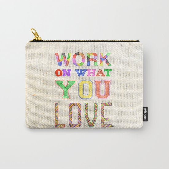 Life & Love Carry-All Pouch