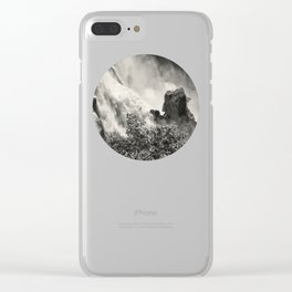 Strength against the waterfall Clear iPhone Case