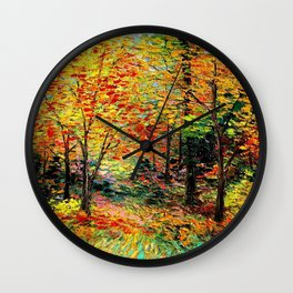 Fall Landscape Wall Clock