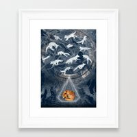 ghost Framed Art Prints featuring GHOSTS  by Sandra Dieckmann