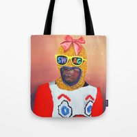 swag Tote Bags featuring SWAG by Super Future Kid