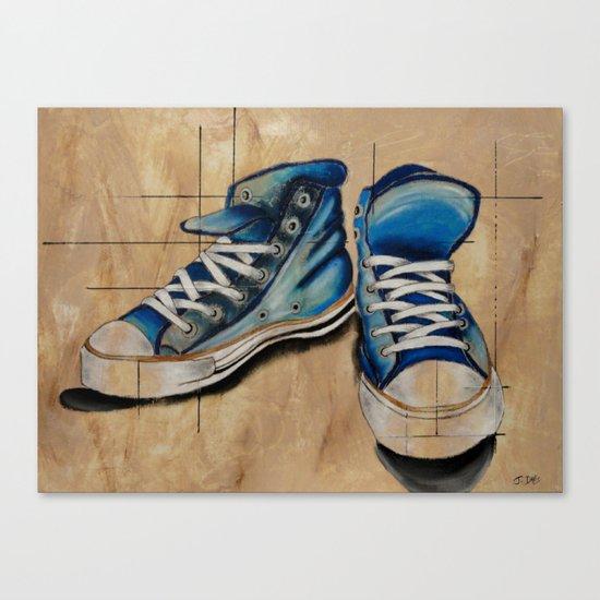 Blue Shoes Canvas Print