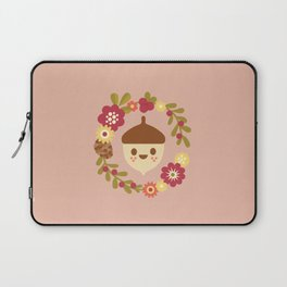 Acorn and Flowers / Blush Pink Laptop Sleeve
