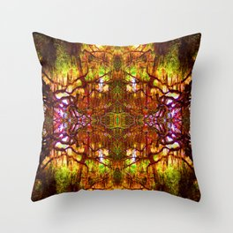 Tree of Life Abstract Throw Pillow