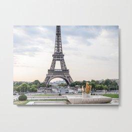 Eiffel Tower Paris in August Metal Print