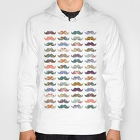 mustache Hoodies featuring Mustache Mania by Bianca Green