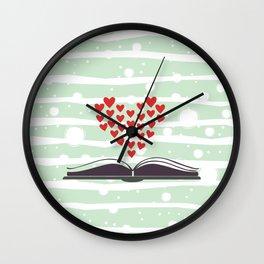 Romance Book Wall Clock