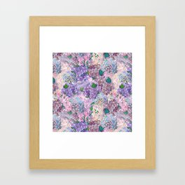 Purple and blue Lilac & Hydrangea - Flower Design Framed Art Print