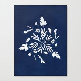 Botanical triskele Canvas Print