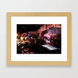 Mixing Hands Framed Art Print