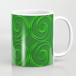 Abstract circles green illustration. Coffee Mug