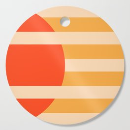 GEOMETRY ORANGE I Cutting Board