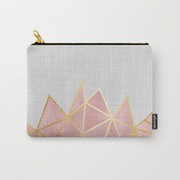 Pink & Gold Geometric Carry-All Pouch