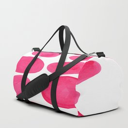 Abstract Minimalist Mid Century Modern Colorful Pop Art Pink Pastel Pebble Bubbles Duffle Bag
