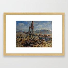 The Red Rocket Framed Art Print