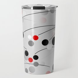 Winterberry - Abstract - Black, Gray, Red, White Travel Mug