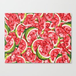 Watermelons Forever Canvas Print