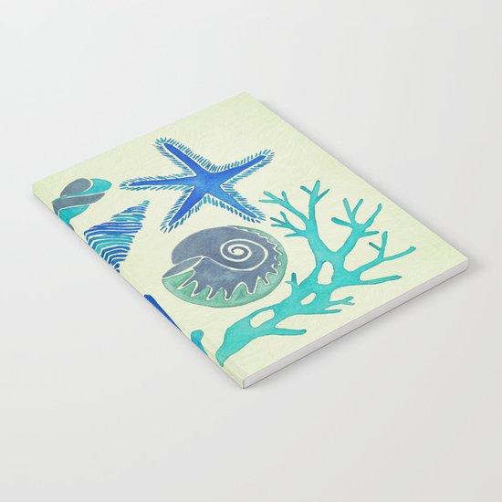 Blue Seashells Notebook