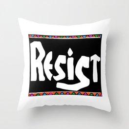#Resist Throw Pillow