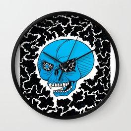 Lightning Skull Wall Clock