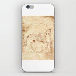 Da Vinci Horse In Piaffe iPhone Skin
