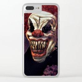 Scary Clown Purple Smoke Clear iPhone Case