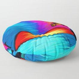 Swamp lady blues heart Floor Pillow